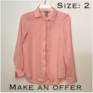 H&M - Peach Button Down shirt